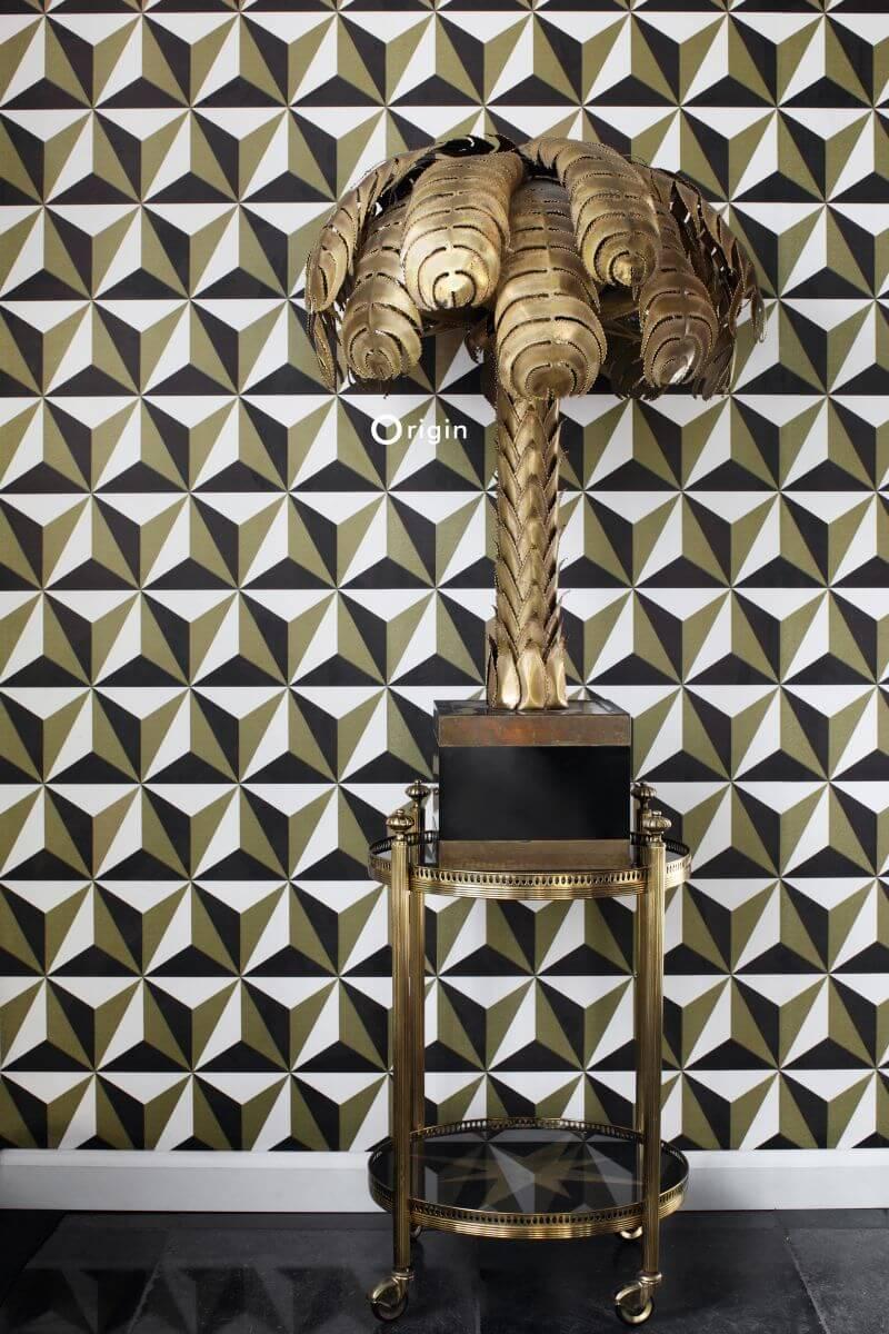 Tapete Grafisch Design Gold