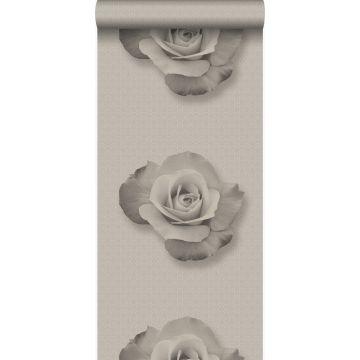 Tapete Rose Grau und Schwarz