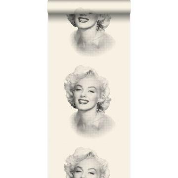Tapete Marilyn Monroe Weiß und Schwarz