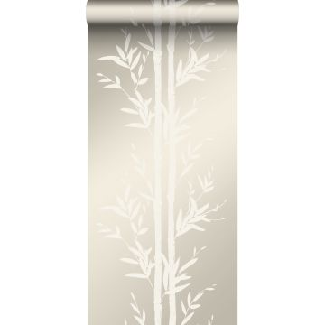 Tapete Bambusmuster Crême-Weiß