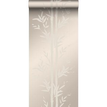 Tapete Bambusmuster Silber