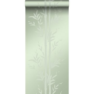 Tapete Bambusmuster Olivgrün