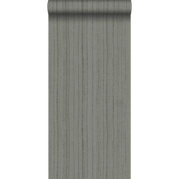 Tapete feine unregelmäßige Streifen mit Sandstruktur Taupe