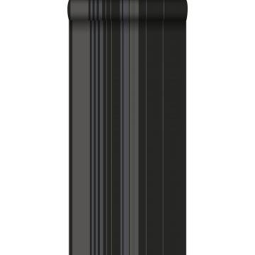 Tapete Streifen Schwarz und Messing