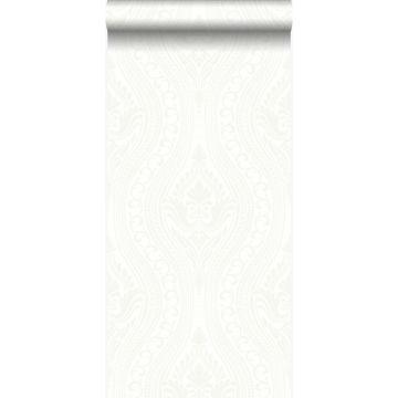Tapete Ornamente Crême-Weiß