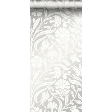 Tapete Blumen Crême-Weiß