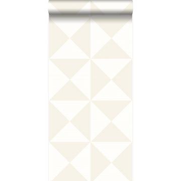 Tapete grafische Form Weiß