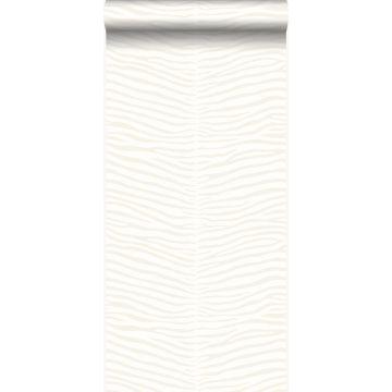 Tapete Zebrahaut Weiß