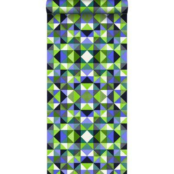Tapete kubistisches Muster Grün