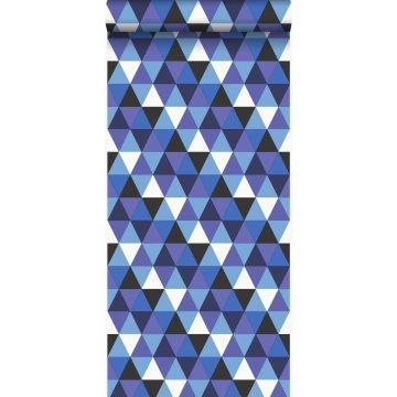 Tapete grafische Dreiecke Blau