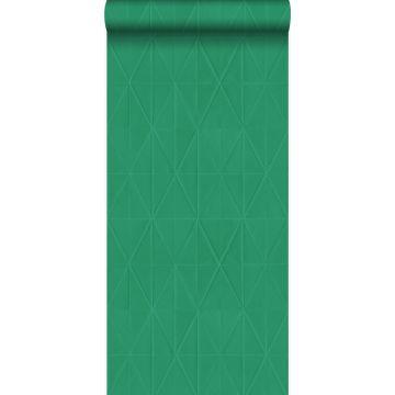 Tapete grafische Form Grün