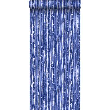 Tapete Streifen Blau