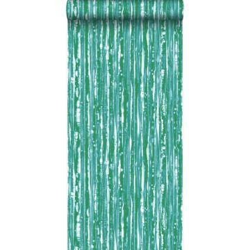 Tapete Streifen Grün