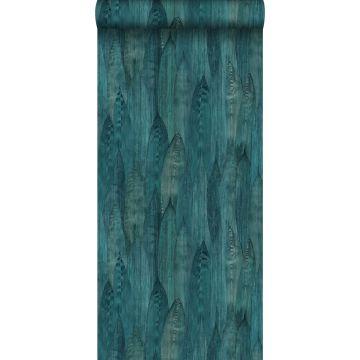 Eco Texture Vliestapete Blätter Meeresgrün