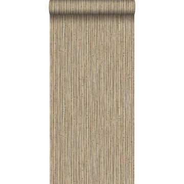 Tapete Bambusmuster Hellbraun