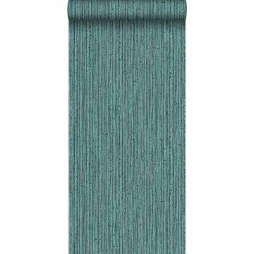 Tapete Bambusmuster Meeresgrün