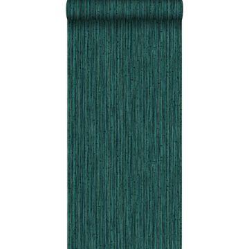 Tapete Bambusmuster Smaragdgrün