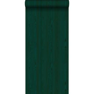 Tapete Holzoptik Smaragdgrün