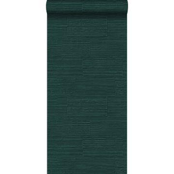 Tapete Steinoptik Smaragdgrün