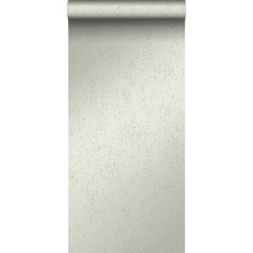 Tapete Metall-Optik Mintgrün