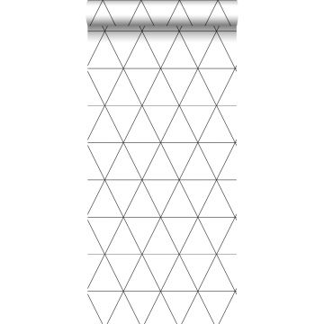 Tapete grafische Dreiecke Schwarz-Weiß