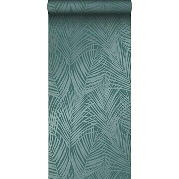 Tapete Palmenblätter Smaragdgrün