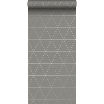 Tapete grafische Dreiecke Grau