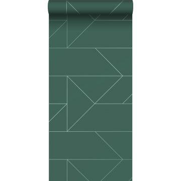 Tapete grafischen Linien Dunkelgrün