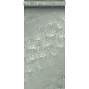 Tapete Ginkgoblätter Salbeigrün