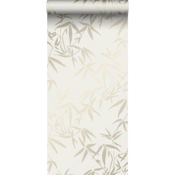 Tapete Bambusblätter Beige