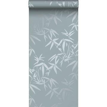 Tapete Bambusblätter Blau