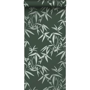Tapete Bambusblätter Dunkelgrün