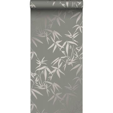 Tapete Bambusblätter Grau