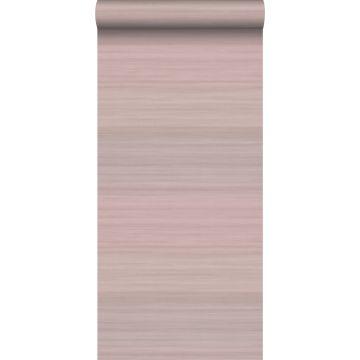 Tapete Gewebeoptik mit Farbverlauf Altrosa