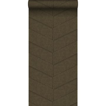 Tapete Fliesenmuster mit Schlangenhaut-Motiv Braun