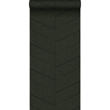 Tapete Fliesenmuster mit Schlangenhaut-Motiv Dunkelgrün