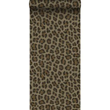 Tapete Leopardenmuster Braun und Beige