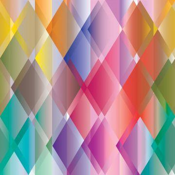 Fototapete bunte Dreiecke Gelb, Rosa, Rot, Lila und Grün
