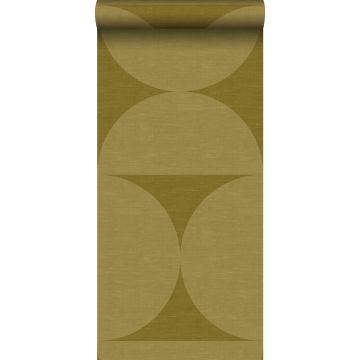 XXLVliestapete Halbkreise Senfgrün