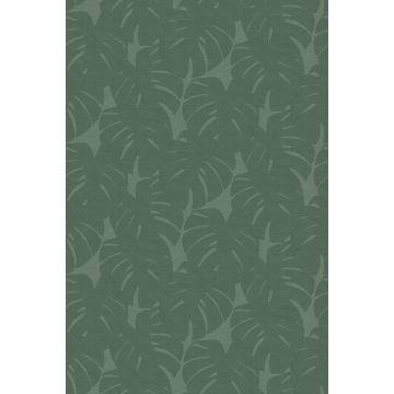 Fototapete Blätter in Leinen-Optik Grün