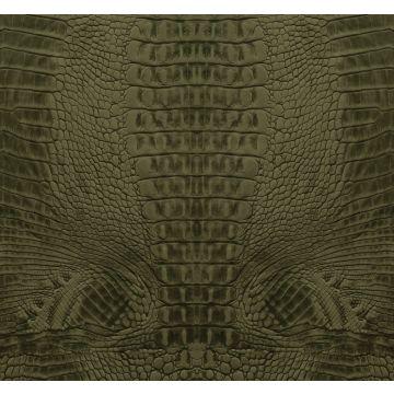 Fototapete Krokodil-Optik Moosgrün