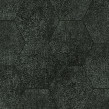 selbstklebende Öko-Leder Wandfliesen Sechseck Antrazitgrau